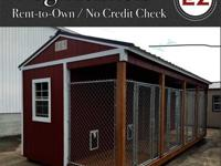 12X24 4 dog kennel with waterproof floors, chain link