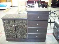 BEAUTIFUL 4 DRAWER CHEST WITH SIDE BY SIDE CABINET!