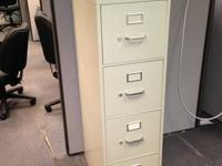 4 DRAWER LETTER SIZE   FILE CABINET  by HON OFFICE