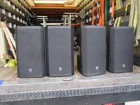 (4) Electro-Voice ZLX112P Speakers 100-240V, 50-60HZ