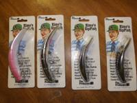 Hello!  I have 4 Elmo's Zip Fish fishing lures (Never