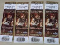 4 football tickets for sale Who: San Diego State Aztecs