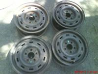 4 Ford steel rims,for FWD,off Taurus,$7 each 4 for $25