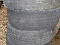 four 245/70/16 LT tires less than have tread, but they