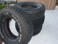 (4) futura dakata rvt tires like brand new less than