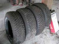 4 GOOD YEAR WRANGLER TIRES P235/75-R15 TIRES LIKE NEW