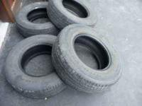 We have 4 Goodyear Wrangler HP M and S -- 265 70 17
