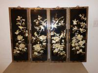HAND CRAFTED AND HAND PAINTED PANELS ARE WOOD EXCELLENT