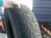 4 Hankook studded snow tires 205-70-R15 call  Location:
