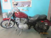 2007 Sportster (Red) clean bike, only 8325 miles,