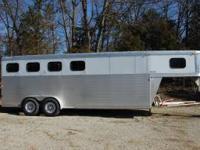 Exiss 4 Horse GN ES 400 Slant load Trailer. Width 6'