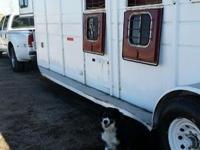 1994 4 horse slant gooseneck trailer. Full size tack