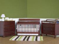 I have a 4-in-1 DaVinci Kalani Espresso infant bed room