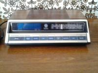 GE - AM/FM CLOCK RADIO - 20.00. WORKS WELL - IN NICE