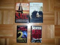 I have 4 James Patterson Books for sale. $10 for all 4