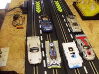 1:32 4 lane slot car track Includes: 6 cars upgraded