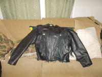 4 leather coats. The first one is Route 66 size 48 with