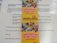 4 Legoland Standard Membership Year Passes. They are