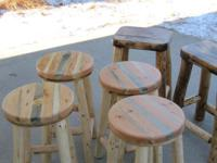 New Hand Crafted Stools , Mortise & Tenon Construction,