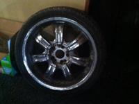 I have four low profile tires and rims for sale they