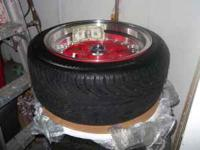 Fresh rims, 4 lug universal, tires have alot of meat
