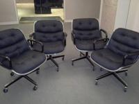 We have 4 black offic workdesk chairs available. They