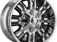 (4) Mayhem 8070 Chrome Assault 20x9 Wheels bolt pattern