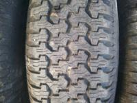 "4 New Tires 235 on 15 "" 5 hole  Aluminum  Rims --  just"