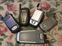 FOR SALE IS A USED LOT OF 4 NEXTEL PHONES AND 1 NEXTEL