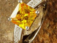 I have a gorgeous females's / ladies Citrine topaz ring