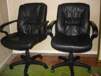 4 Black Office Desk Chairs in Excellent condition. Part