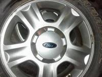 These are the four original aluminum alloy wheels and