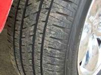 (4) Bridgestone dueler hl got about 2/3 rubber on them.