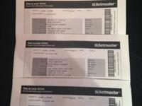 I have 4 P!nk GOLD HOT SEAT PACKAGE Tickets for
