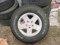 """SET OF 4 P215-75R 14"""" WHEELS & TIRES REMOVED FROM A"""