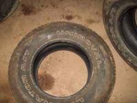 4 UNIROYAL LIBERATOR TIRES[ NICE TREAD] ONE TIRE HAS A