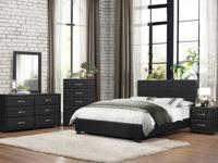 The Marvin bedroom collection is available in black
