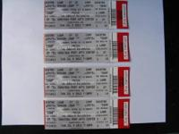 I have 4 Phish lawn tickets for Sunday, July 8th at