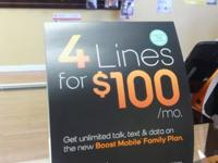 *****FOUR LINES FOR $100.00 IS BACK DO NOT MISS