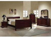Roundhill Furniture Isola Louis Philippe Style Sleigh
