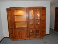 Beautiful! 4 Item Lighted China Cabinet with Glass