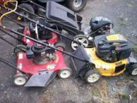 4 push mowers a cub cadet murry and others fix or parts