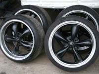 4 20 inch racing rims with 245/35 ZR20 inch tires made