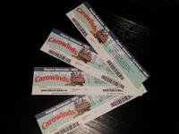 I have 4 tickets to Carowinds Amusement Park that we no