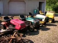 i have 4 riding mowers ranging in price from $160 to