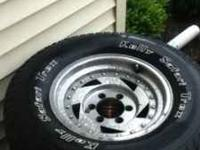 I have 4 rims with tires and two extra tires the tires
