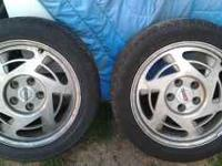 Got 4 rims with tires good for camaros, hot rods and a