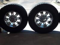 4 American eagle rims and tires. Rims are 18 inch 8 lug