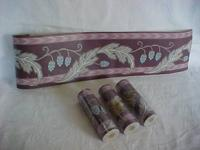 4 rolls of older wallpaper border,measures 5 1/8""