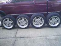 4 - S10 Extreme rims w/ tires. Two tires are 195/50/16